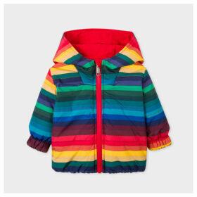 Babies Multi-Colour Stripe Reversible Jacket