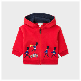 Babies' Red 'Mini And Soldiers Parade' Motif Hoodie