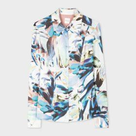 Women's Navy Satin Pleated Midi Skirt
