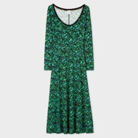 Women's White V-Neck 'Achille Pinto' Print Cotton T-Shirt