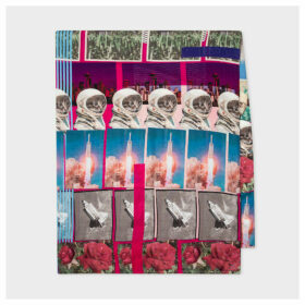 Women's 'Space Collage' Print Scarf