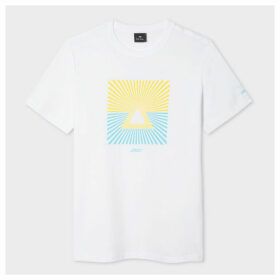 Paul Smith + The Chemical Brothers - Yellow And Blue 'Mount Fuji' Print T-Shirt