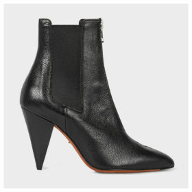 Women's Black Leather 'Siouxsie' Heel Boots