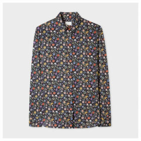 Women's Dark Navy 'Liberty Floral' Print Cotton Shirt