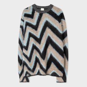 Women's Slim-Fit White 'Galaxy' Print Cotton Shirt