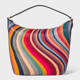 Women's Orange Zebra Logo Organic Cotton Sweatshirt Dress