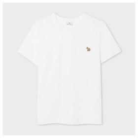 Women's White Zebra Logo Organic Cotton T-Shirt