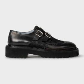 Women's Dark Green Tartan Motif Two-Button Wool And Silk-Blend Blazer