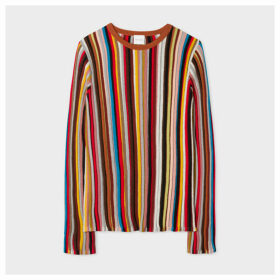 Women's 'Signature Stripe' Wool Ribbed Sweater