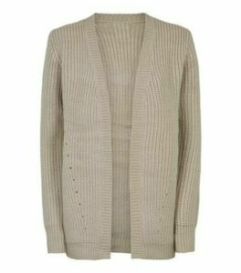 Apricot Stone Chunky Knit Cardigan New Look