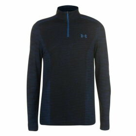 Under Armour Threadborne Seamless Quarter Zip Top Mens - Blue