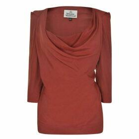 Vivienne Westwood Virginia Drape Blouse - Garibaldi Red