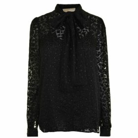 Michael Michael Kors Floral Jacquard Top - Black - 001
