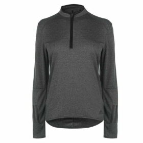 adidas Response Long Sleeve Zip Top Ladies - Black