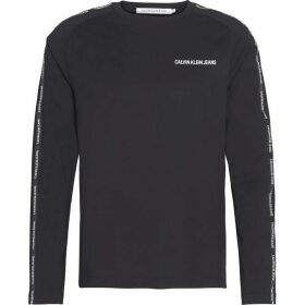 Calvin Klein Jeans Institutional Tape Long Sleeve T Shirt - CK Black