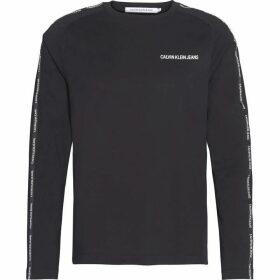 Calvin Klein Jeans Institutional Tape Long Sleeve T Shirt - CK Black