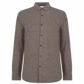 Farah Vintage Long Sleeve Kreo Shirt - Brown