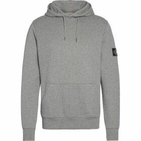 Calvin Klein Jeans Sleeve Badge Hoodie - Mid Grey