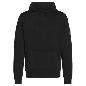 Calvin Klein Jeans Sleeve Badge Hoodie - Black