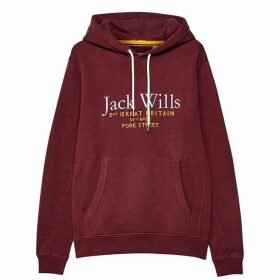 Jack Wills Batsford Wills Hoodie - Damson