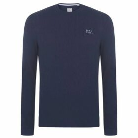 Jack Wills Frogwell Long Sleeve T-Shirt - Navy