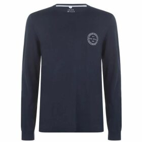 Jack Wills Bainesworth Long Sleeve T-Shirt - Navy