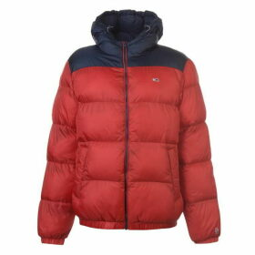 TOMMY JEANS Classic Puffa Jacket - Red