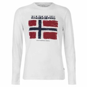 Napapijri Sadrin Long Sleeve T Shirt - White