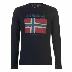 Napapijri Sadrin Long Sleeve T Shirt - Navy