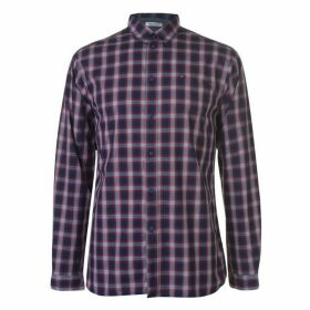 Tommy Jeans Long Sleeve Check Shirt - Red
