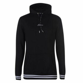 Nimes Stripe Over The Head Hoodie - Black/White