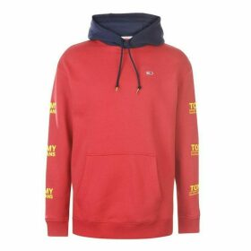 Tommy Jeans Essential Graphic Hoodie - Red