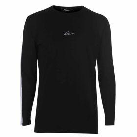 Nimes Stripe Long Sleeve T Shirt Mens - Black/White