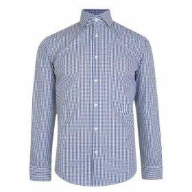 BOSS Gordon Shirt - Navy Gingham