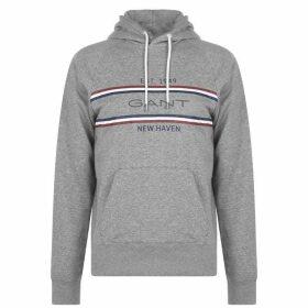 Gant Stripe OTH Hoodie - Grey 093