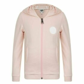 Karl Lagerfeld Skwl Team Hooded Sweatshirt - Pink