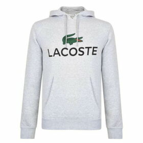 Lacoste Logo Hooded Sweatshirt - Grey