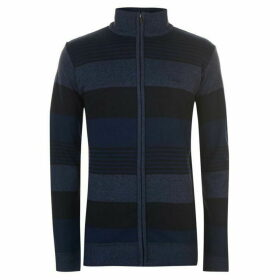 Lee Cooper Zip Knit Cardigan Mens - Navy/Blue
