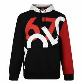 POLO RALPH LAUREN Contrasting Logo Hooded Sweatshirt - Black