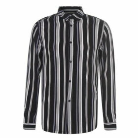 Religion Stripe Shirt - Black/Quartz