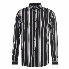 Religion Religion StripeShirt Sn94 - Black