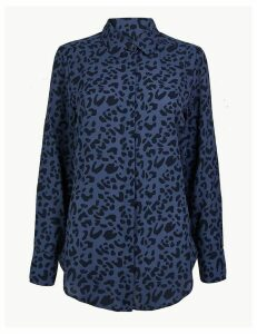 M&S Collection Animal Print Longline Shirt