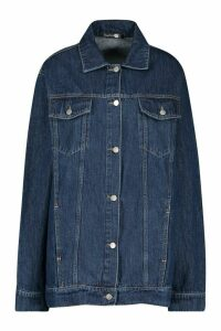 Womens Tall Oversized Denim Jacket - Blue - 6, Blue