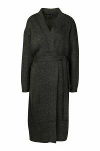Womens Maxi Belted Cardigan - Black - M, Black