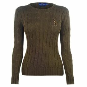 Polo Ralph Lauren Sequin Logo Cable Knit Jumper