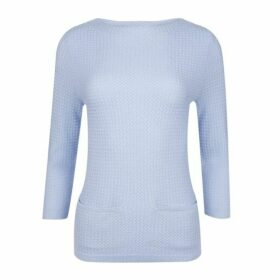 Blue Crew Neck Rick Rack Jumper