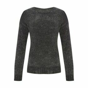 Grey Drop Shoulder Chenille Jumper
