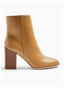 Womens Blissful Tan Ankle Boots, TAN