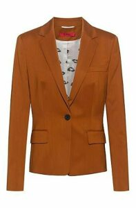 Regular-fit jacket in virgin wool with collection lining