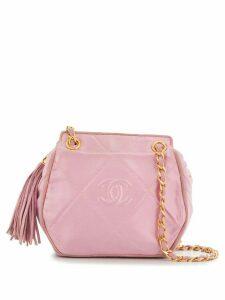 Chanel Pre-Owned 1990s tassel detail quilted shoulder bag - PINK